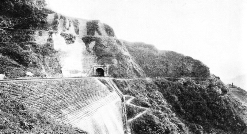 A RETAINING WALL strengthening one of the embankments of the Serra do Mar inclines