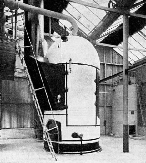 THE LARGE DOME forming the steam space of a Cochran vertical boiler