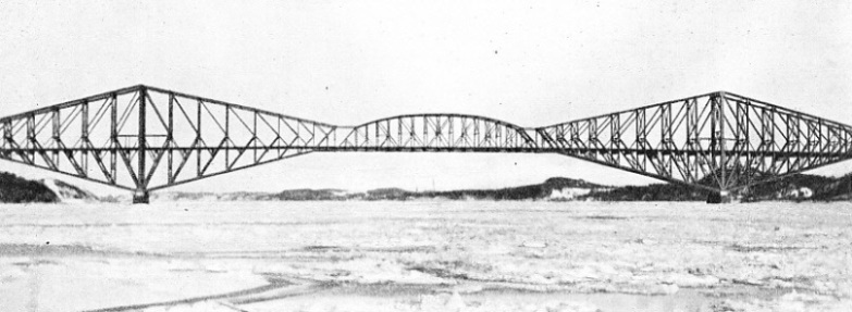 THE LONGEST CANTILEVER SPAN IN THE WORLD is that of Quebec Bridge