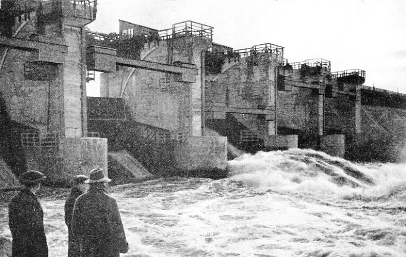 Floodgates in the Concrete and Timber Dams