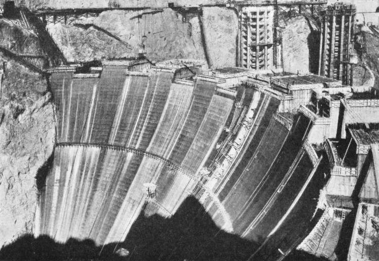 THE GREAT BOULDER DAM NEARING COMPLETION
