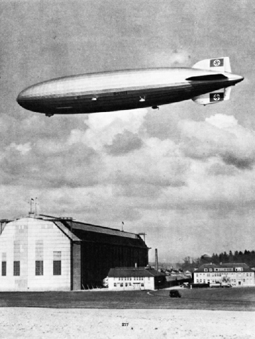 The completed airship Hindenburg