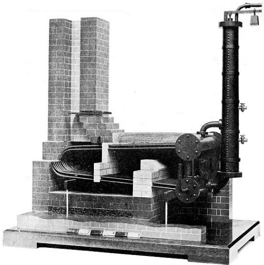 MODEL OF AN EARLY WATER TUBE BOILER designed by Sir Goldsworthy Gurney
