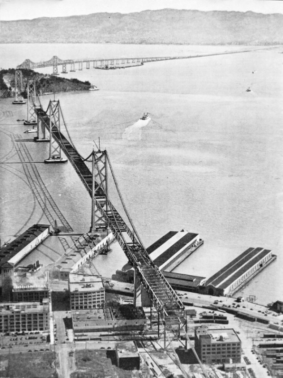 THE WORLD'S LONGEST BRIDGE in course of construction