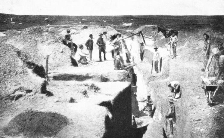 OPENING UP ONE OF THE FIRST GOLD MINES at Johannesburg in 1886