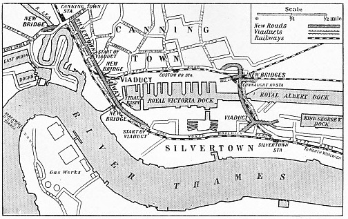 Silvertown Way runs from East India Dock Road and Barking Road