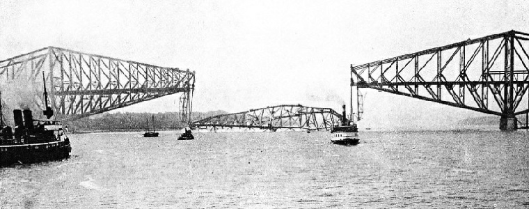 The Collapsed Central Span of the Quebec Bridge