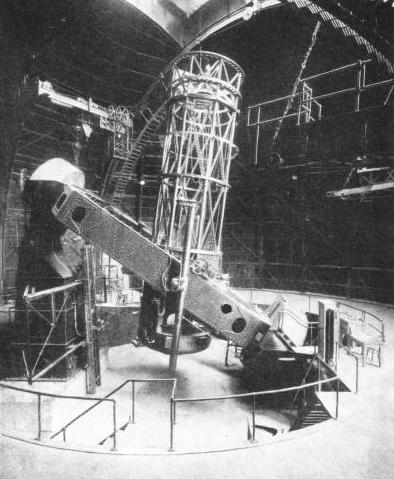 INTERIOR OF THE DOME which contains the 100-in Hooker telescope