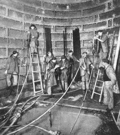 THE CEMENTATION PROCESS in use during the sinking of the vertical shaft at Liverpool