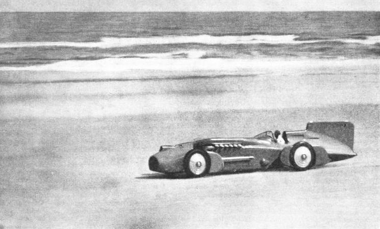 ON DAYTONA BEACH, FLORIDA, Blue Bird established a record of 272·11 miles an hour