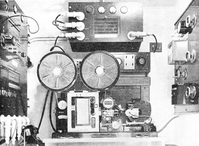 INTERIOR OF A MOBILE RECORDING UNIT as used for production of news reels