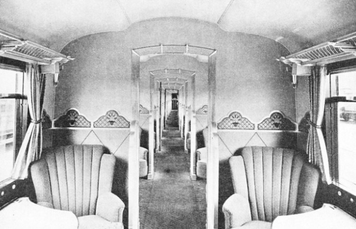 "IN A FIRST-CLASS COACH of the LNER ""Coronation"""