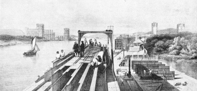 Building the tubes for the Britannia Bridge