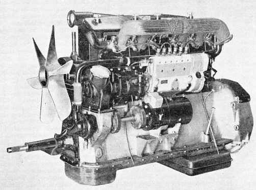 SIX-CYLINDER DIESEL ENGINE for heavy commercial motor vehicles