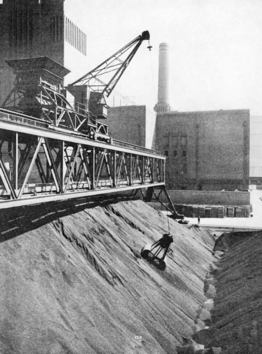 Taking Coal from the Reserve Store at Battersea Power Station
