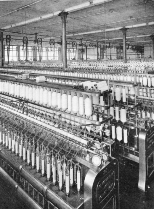 Roving Frames in a cotton mill