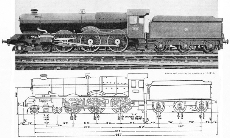 GWR 4-60 express King George VI