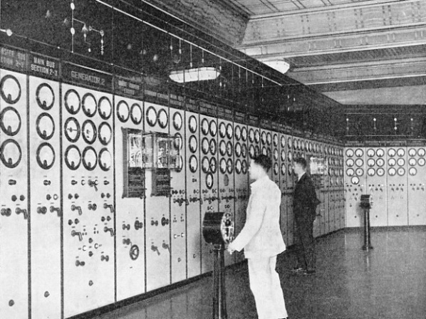The main control board in Battersea Power Station