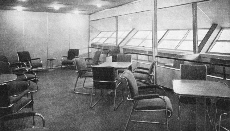 THE STARBOARD HALL of the airship Hindenburg