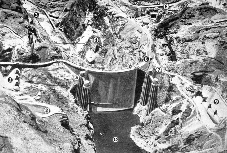 MAIN FEATURES OF THE BOULDER DAM
