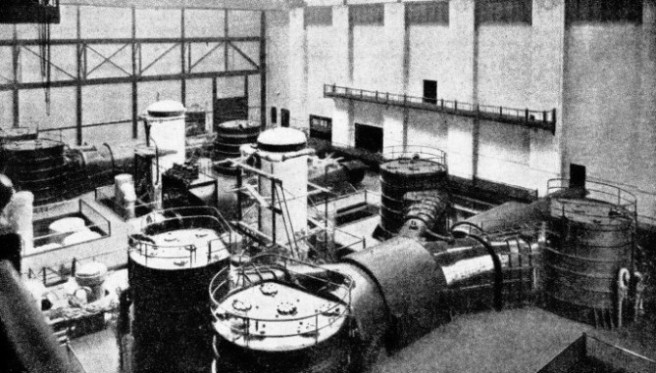 the turbine room of the State Line Power Station.