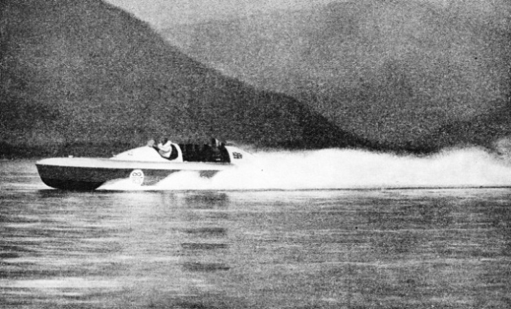 A FAST RUN ON LAKE MAGGIORE, on which Blue Bird eventually attained a speed of 130·43 miles an hour