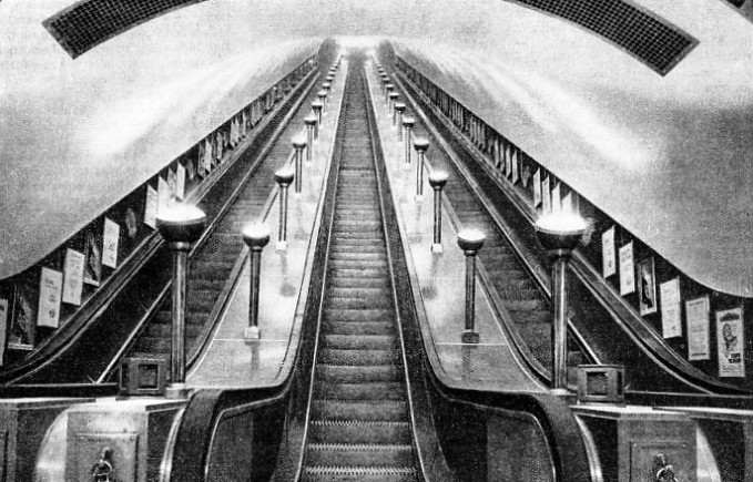 THREE OF THE LONGEST PASSENGER ESCALATORS IN THE WORLD