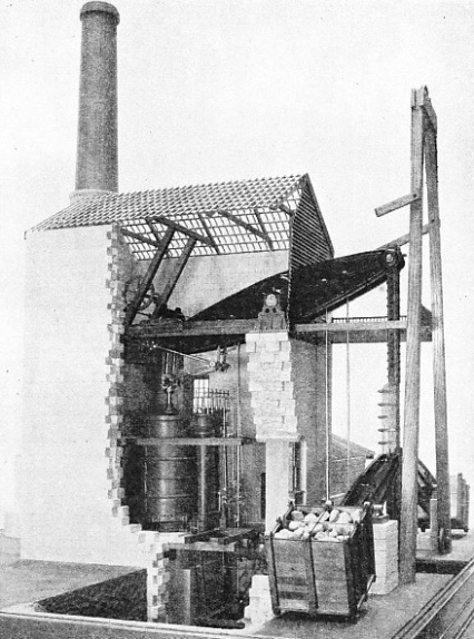 MODEL OF A DOUBLE-ACTING PUMPING ENGINE built for a mine in Cornwall