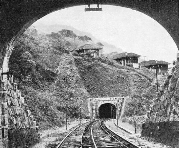 TUNNELS ON THE NEW LINE up the Serra do Mar inclines