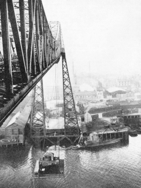 AT MIDDLESBROUGH, YORKSHIRE, a transporter bridge has been built across the River Tees