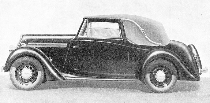 THE DROP-HEAD COUPE enjoys a large measure of popularity