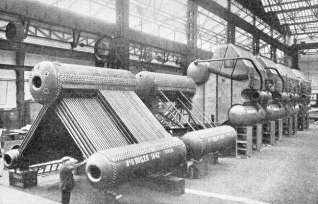 Yarrow water tube boilers