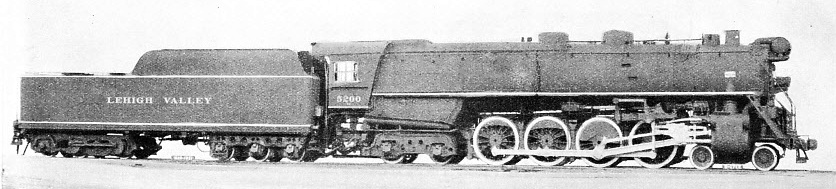 4-8-4 LOCOMOTIVE WITH TWELVE-WHEELED TENDER, built for the Lehigh Valley Railroad