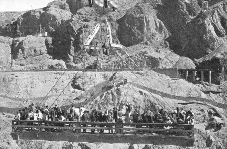 OVERHEAD CABLEWAYS were extensively used during the building of the Boulder Dam