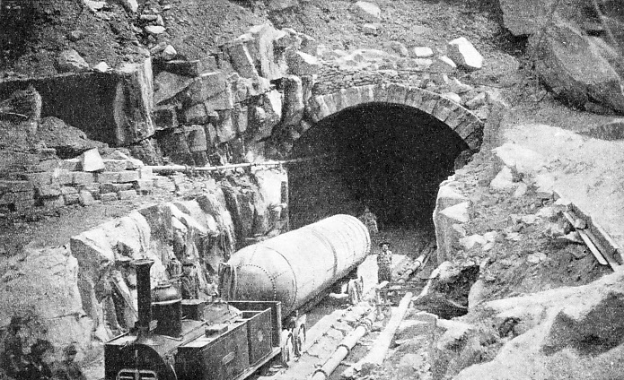 Work at the Entrance to the St Gotthard Tunnel