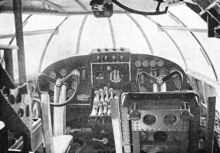 "THE ""BRIDGE"" OF ONE OF THE EMPIRE FLYING BOATS"