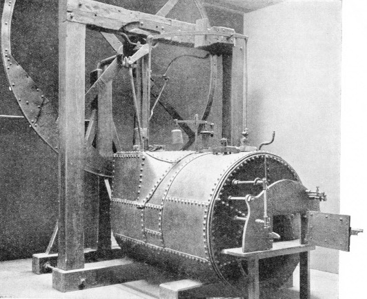 High-pressure engine and boiler by Trevithick