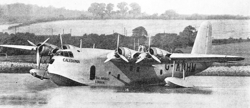 the Empire flying boats are designed for a take-off which lasts for only 21 seconds, and for a fast rate of climb
