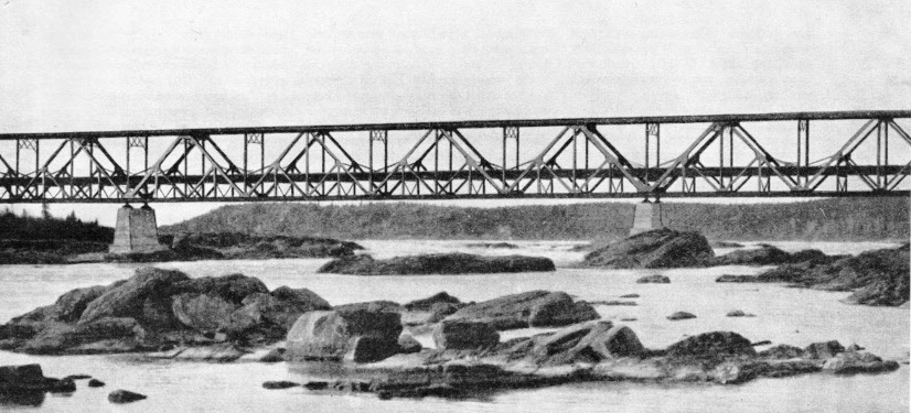 KETTLE RAPIDS BRIDGE on the Hudson Bay Railway