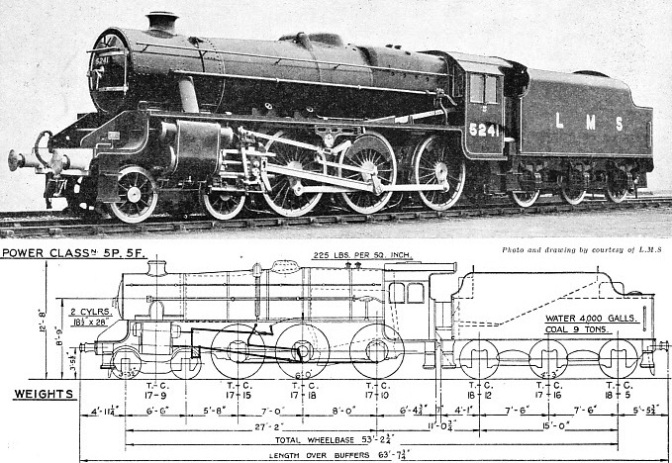 Mixed traffic locomotive of the LMS