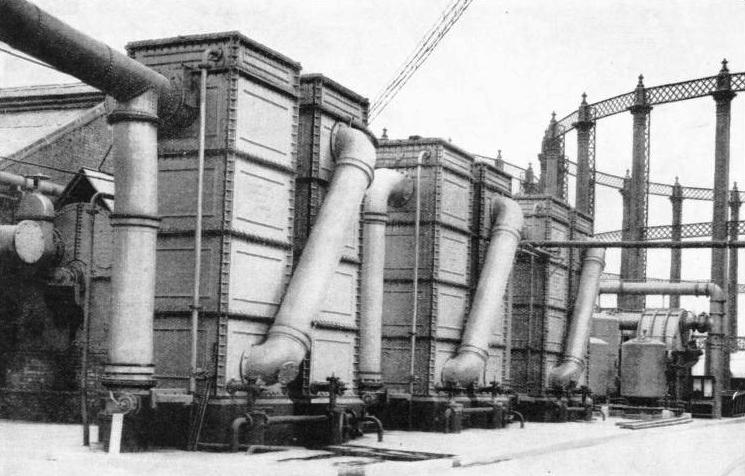 WATER-COOLED GAS CONDENSERS at Bow Common Gasworks