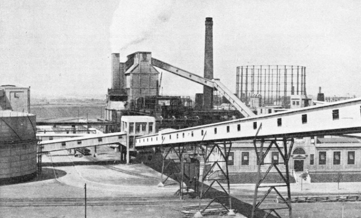 Belt Conveyors Carrying Coal at Beckton
