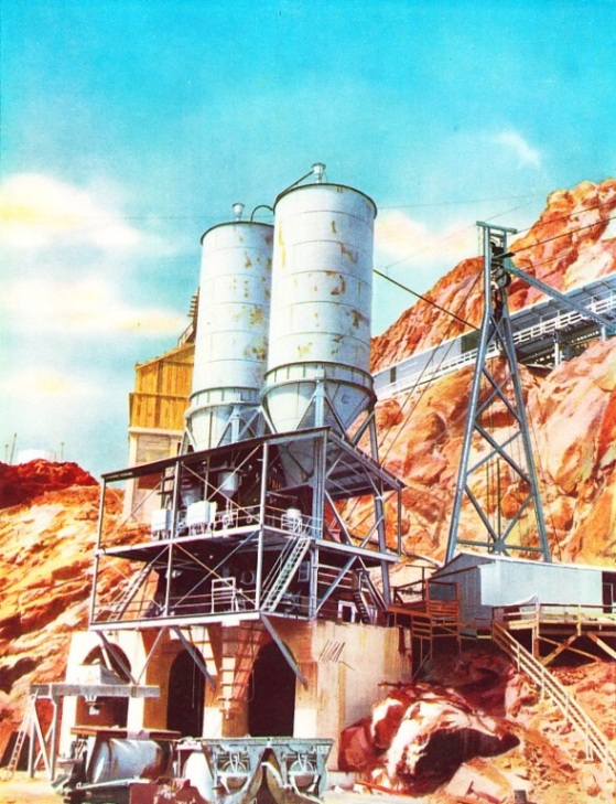 CONCRETE MIXING PLANT used during the building of the Boulder Dam