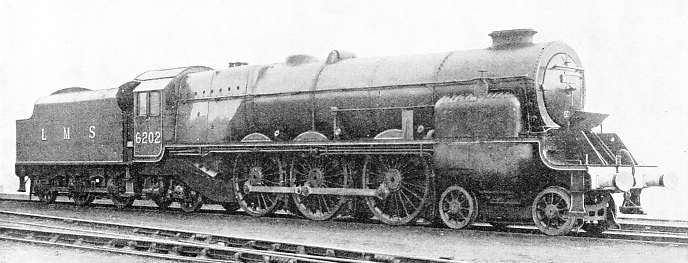 "FITTED WITH A DOME in 1937, No. 6202, the ""turbomotive"", has slightly altered in appearance since it was built in 1935"