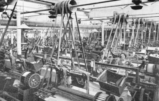 Automatic looms in a cotton mill