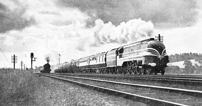 """THE CORONATION SCOT "" on its record-breaking run of June 29, 1937"