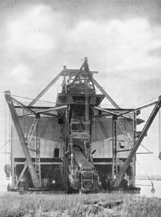 A tin mine dredge