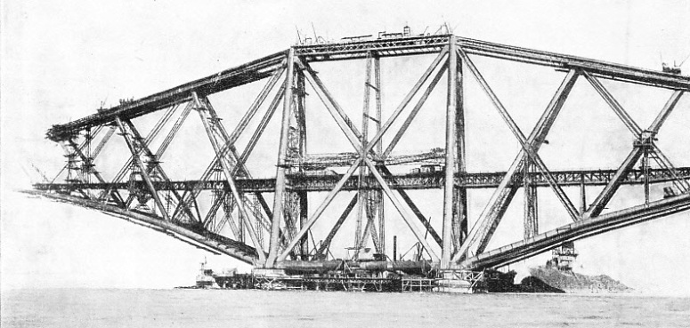 One of the cantilevers of the Forth Bridge