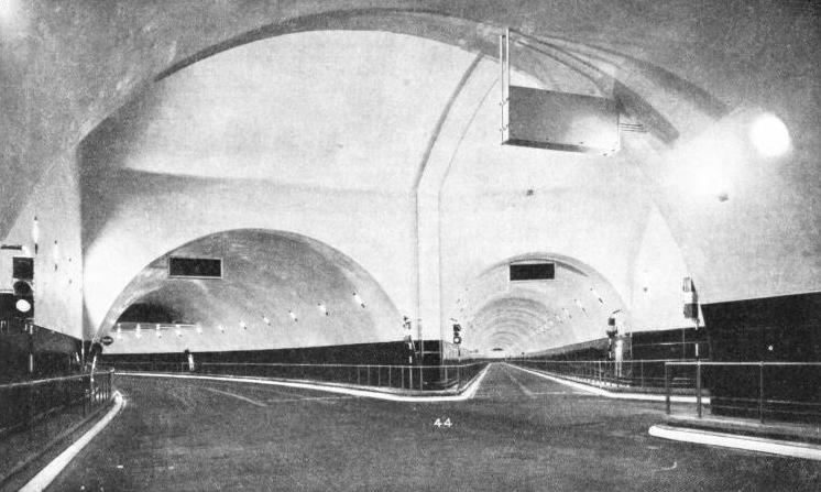 THE JUNCTION CHAMBER on the Birkenhead side of the Mersey tunnel