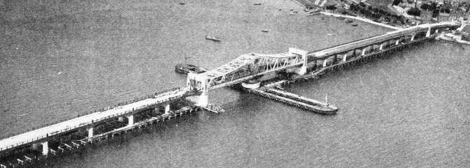 The Kincardine swing bridge across the River Forth